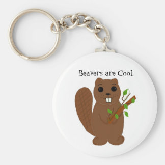 Beavers are Cool Key Ring