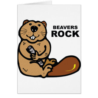 Beavers Rock Card