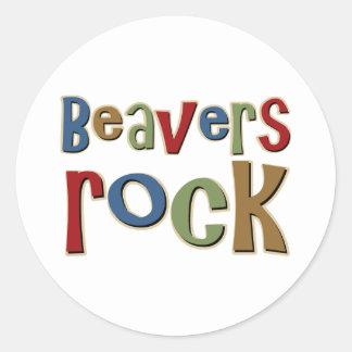 Beavers Rock Classic Round Sticker