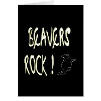 Beavers Rock! Greeting Card