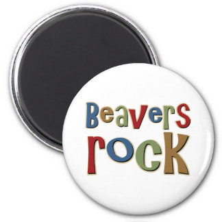Beavers Rock Magnet