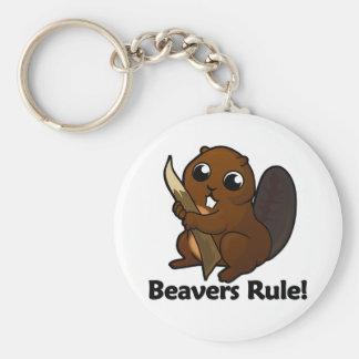 Beavers Rule! Key Ring