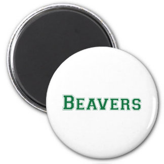 Beavers square logo in green 6 cm round magnet