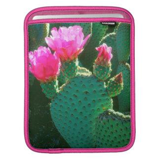 Beavertail Cactus Flowers iPad Sleeve
