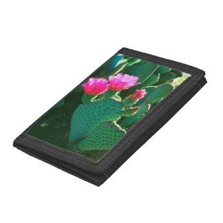 Beavertail Cactus Flowers Tri-fold Wallet