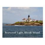 Beavertail Light, Rhode Island Postcard