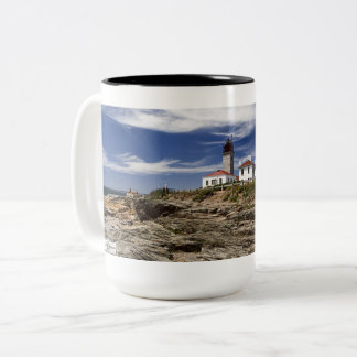 Beavertail Lighthouse- Jamestown, Rhode Island Two-Tone Coffee Mug