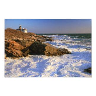 Beavertail Point Lighthouse Seascape Photographic Print