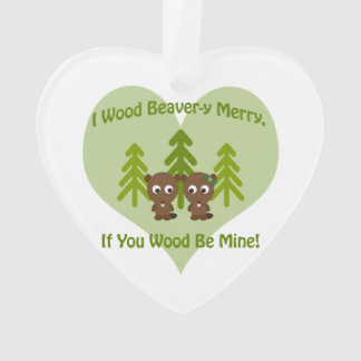 Beavery Merry if you wood be mine cute beavers