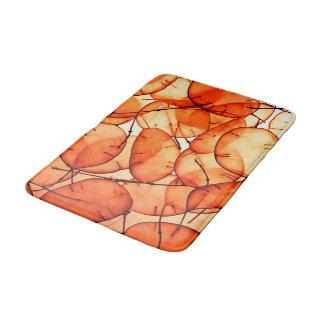 Beaytiful Orange Leaf Bath Mat Bath Mats