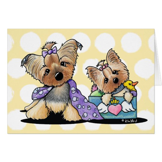 Bebe and Jolie Petcature Note Card