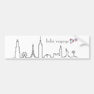 Bebe Voyage bumper sticker
