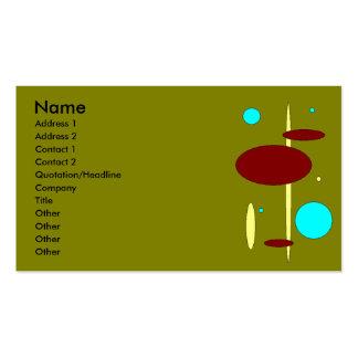 Bebop Retro Olive Business Card