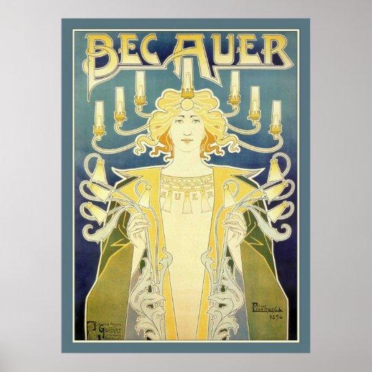 Bec Auer (Blue) Poster