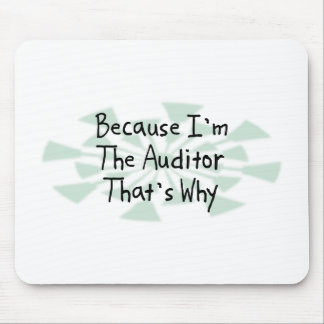 Because I m the Auditor Mouse Pad