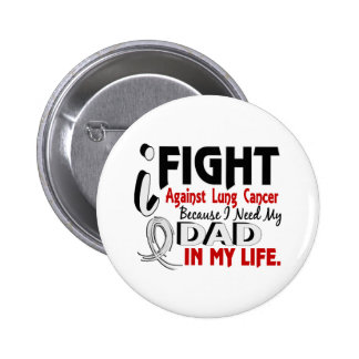 Because I Need My Dad Lung Cancer 6 Cm Round Badge