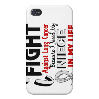Because I Need My Niece Lung Cancer iPhone 4 Cases