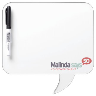 Because I said So square speech bubble dry erase Dry-Erase Whiteboards