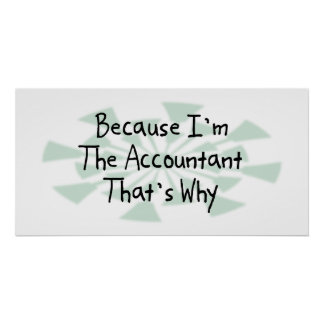 Because I'm the Accountant Poster