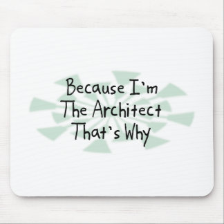 Because I'm the Architect Mouse Pad