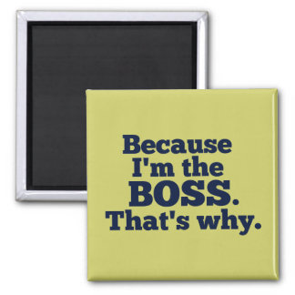 Because I'm the boss, that's why. Square Magnet