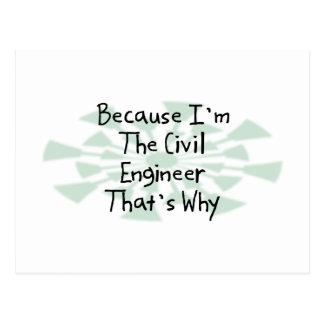 Because I'm the Civil Engineer Postcard