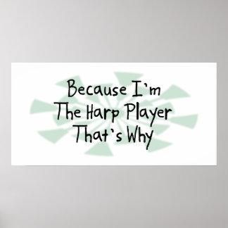 Because I'm the Harp Player Print