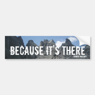 """Because It's There"" Bumper Sticker"