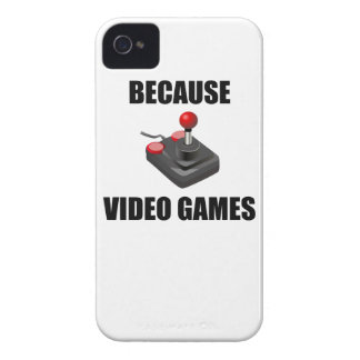 Because Video Games iPhone 4 Cover
