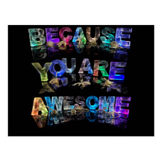 Because You Are Awesome Postcard