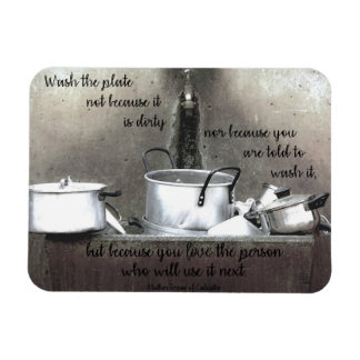 """Because You Love"" Kitchen Magnet"