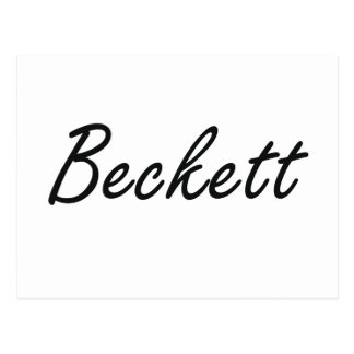 Beckett Artistic Name Design Postcard
