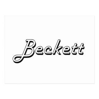 Beckett Classic Retro Name Design Postcard