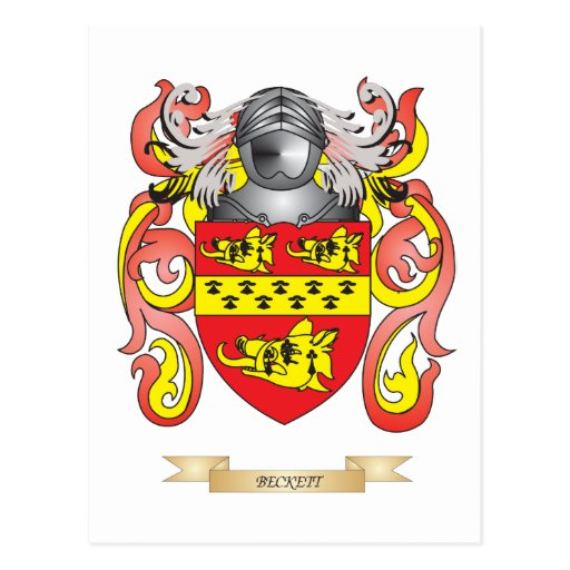 Beckett Coat of Arms (Family Crest) Postcards