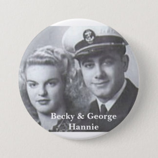 Becky & George Hannie button