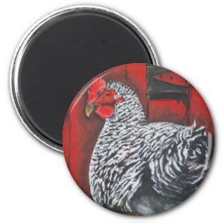 Becky's Chicken 6 Cm Round Magnet