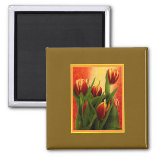Becky's Tulips jGibney Signature Greenville SC The Square Magnet