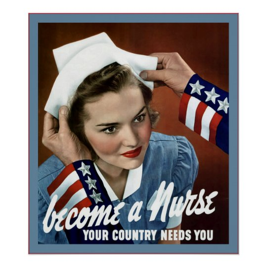 Become A Nurse ~ Vintage Nurse Poster