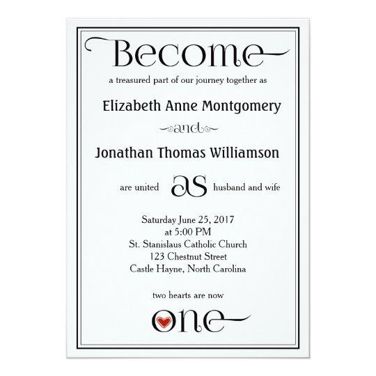 Become as One Contemporary Christian Wedding Card