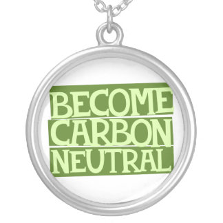 become carbon neutral round pendant necklace