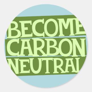 become carbon neutral round sticker