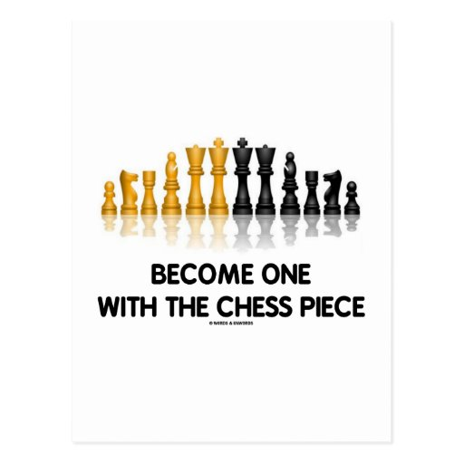Become One With The Chess Piece (Reflective Chess) Postcards
