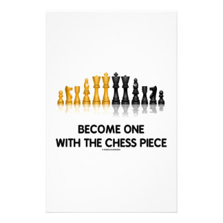 Become One With The Chess Piece (Reflective Chess) Stationery Paper