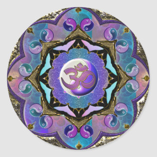 Become the Change ~ Moon Mandala Classic Round Sticker