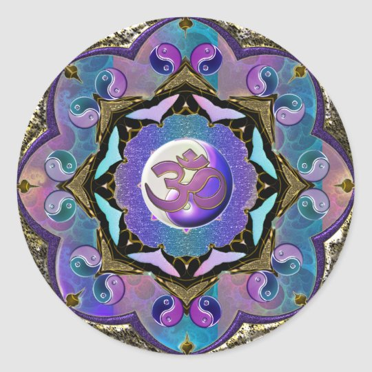 Become the Change ~ Moon Mandala Classic Round