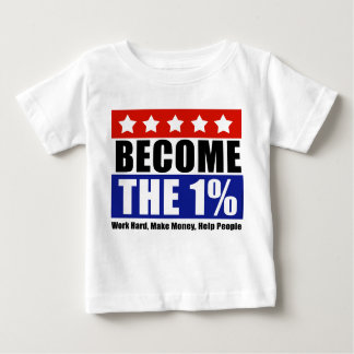 Become the One Percent, Anti-Occupy Wall Street Baby T-Shirt