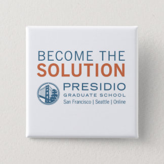 Become the Solution 15 Cm Square Badge