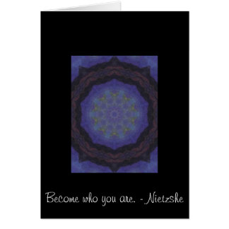 Become who you are. - Nietzshe Card