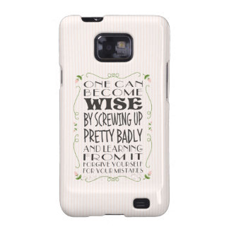 Become Wise from Your Mistakes Galaxy S2 Cover