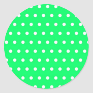 becomes green baby scores polka dots green scored  round sticker